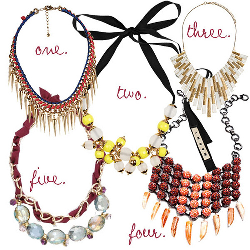embellished bib necklace statement jewellery