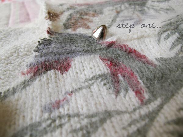 DIY studded jumper