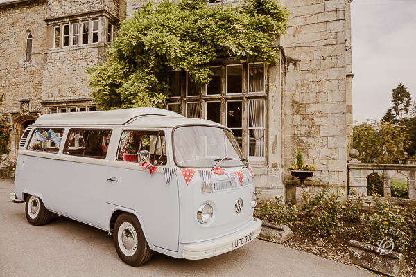 VW campervan wedding vintage