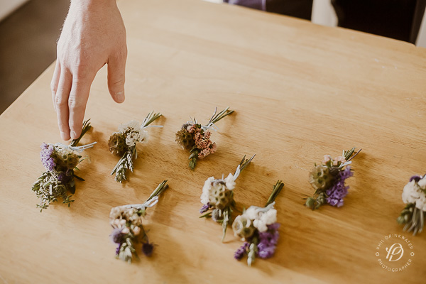 vintage wedding buttonholes