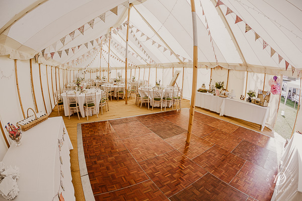tipi style vintage marquee wedding