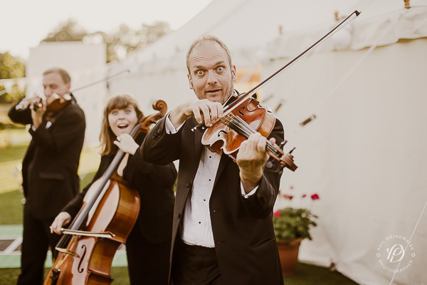 vintage string quartet wedding