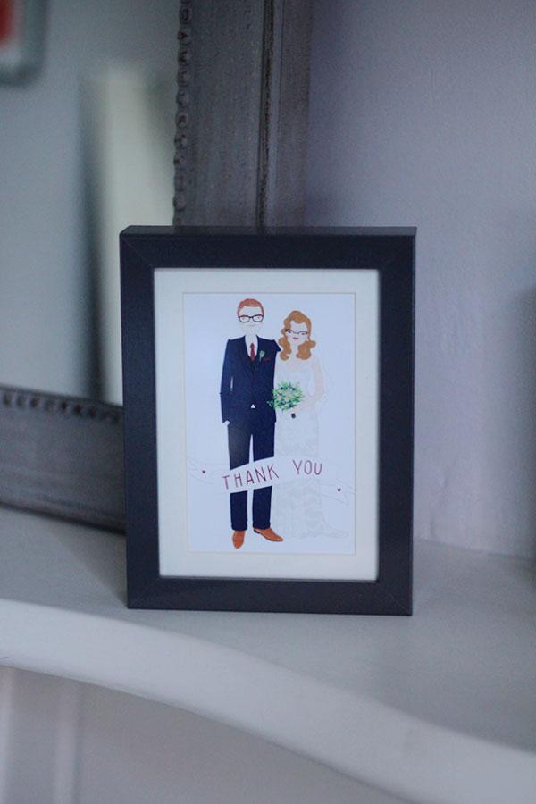 wedding illustration stationery