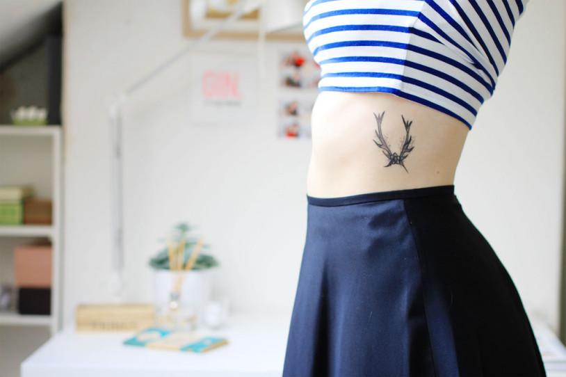antler tattoo ideas