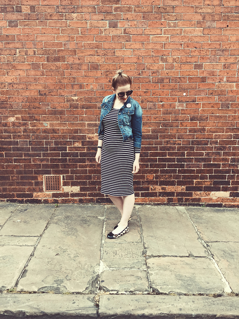 topshop maternity dress stripes